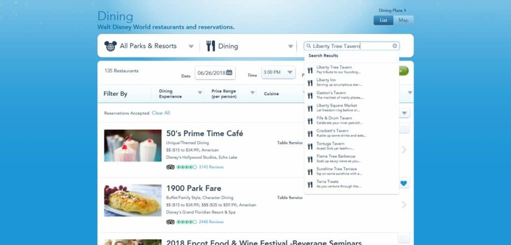 Advanced Dining Reservations The Disney Journey