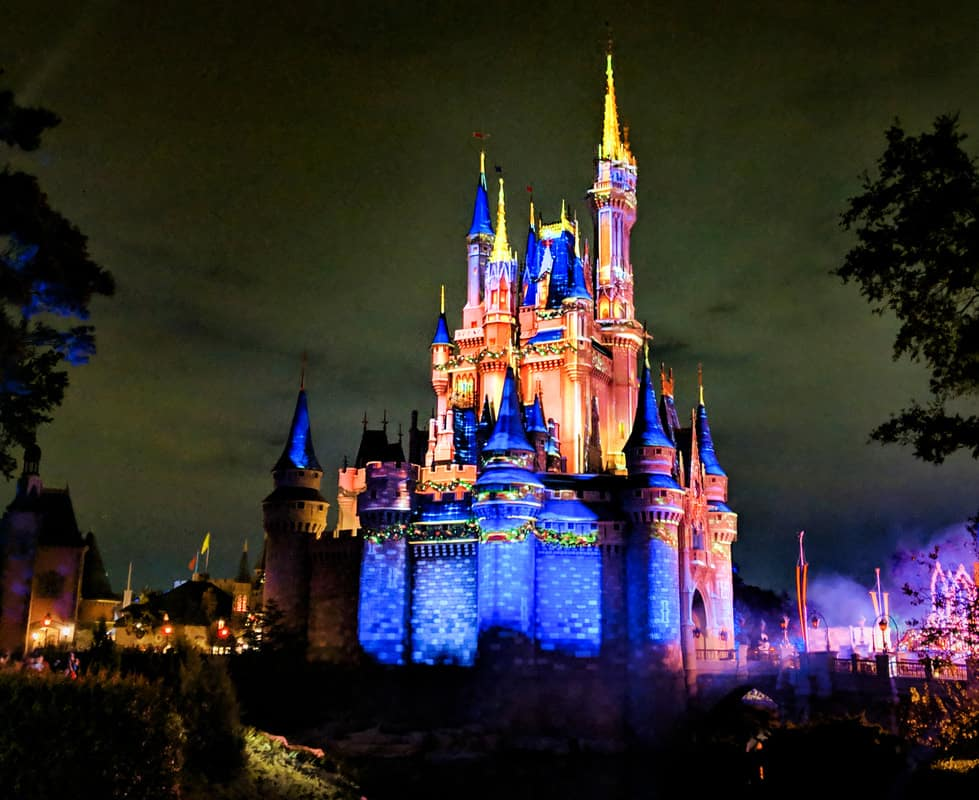 Cinderella's Castle at Christmas Party