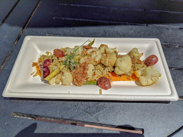 Roasted Cauliflower and Epcot Flower and Garden Festival