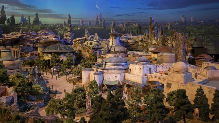 Artist rendering of Star Wars Galaxy's Edge copyright by Disney