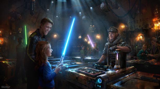 Savi's Workshop to build Custom Lightsabers at Star Wars Galaxy's Edge