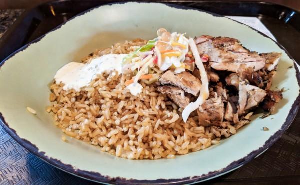 Chicken Bowls with Rice at Satu'li Canteen Disney World