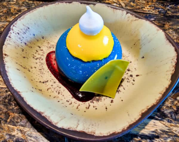 Blueberry Cream Cheese Mousse at Satuli Canteen Disney World