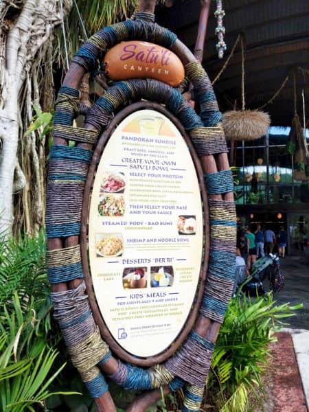 Satu'li Canteen menu image outside building