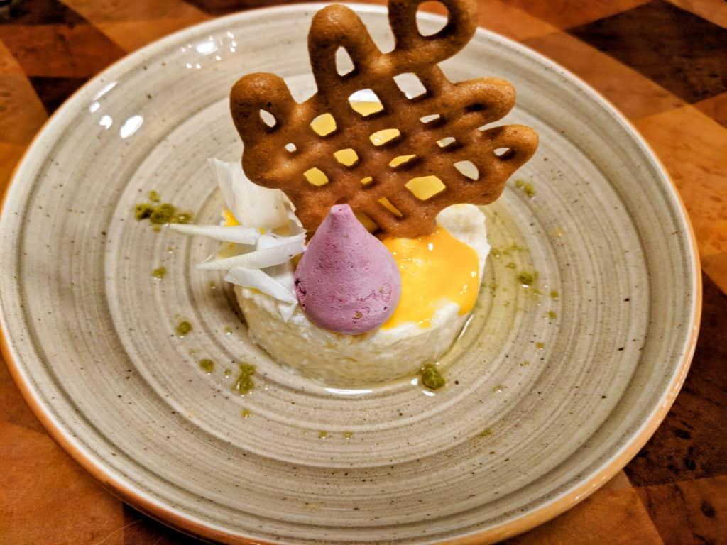 Quicksand dessert at Magic Kingdom's Skipper Canteen. Naturally gluten free