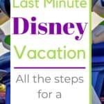 Last minute Disney trip planning pin