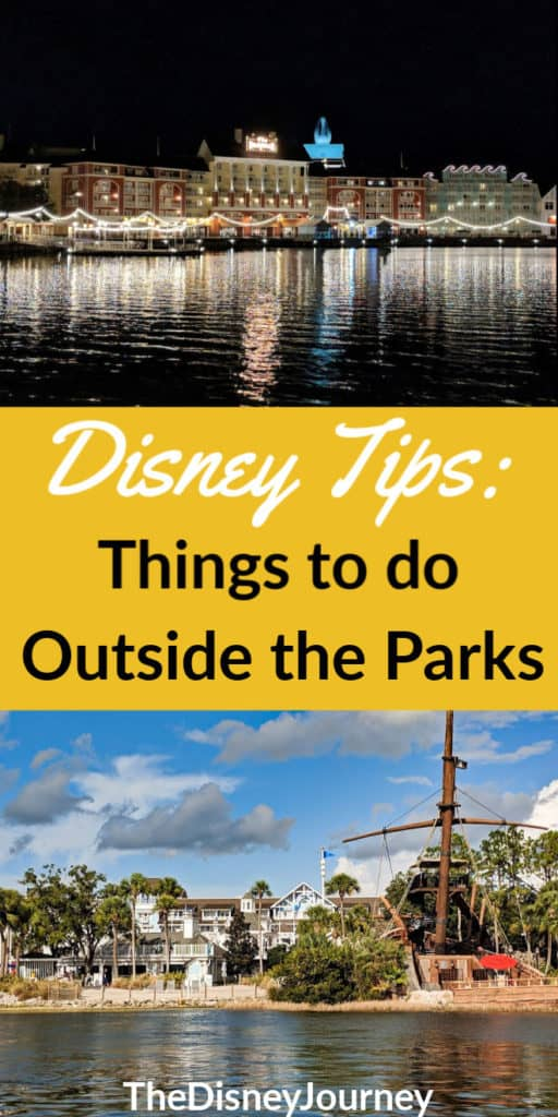 Things to do at Disney World besides the parks pin