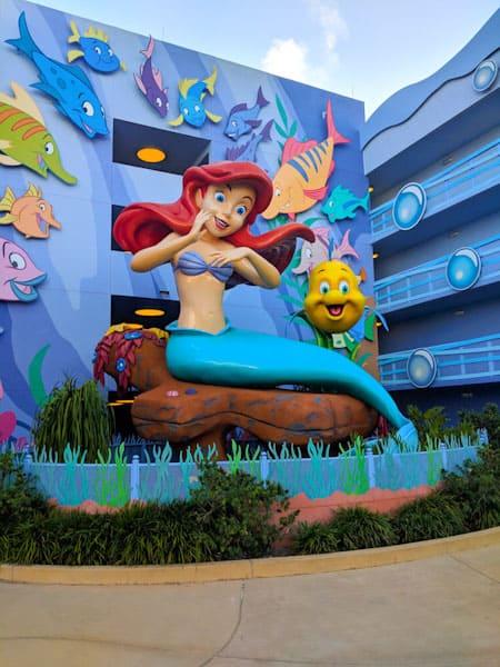 Oversized Ariel statue at Disney's Art of Animation resort