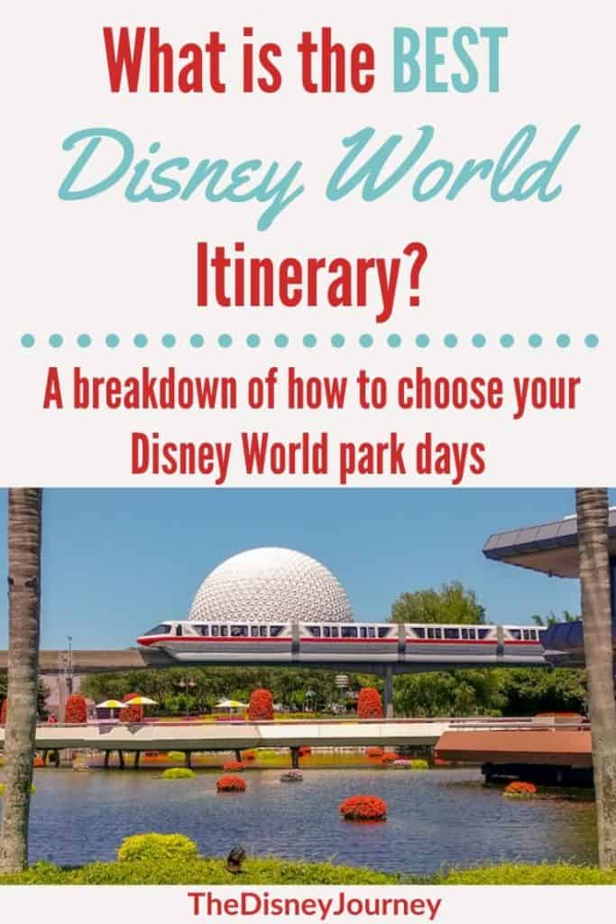 Disney World itinerary pin