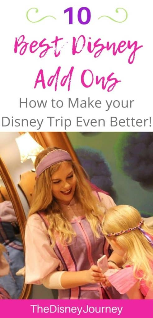 Disney World add ons pin