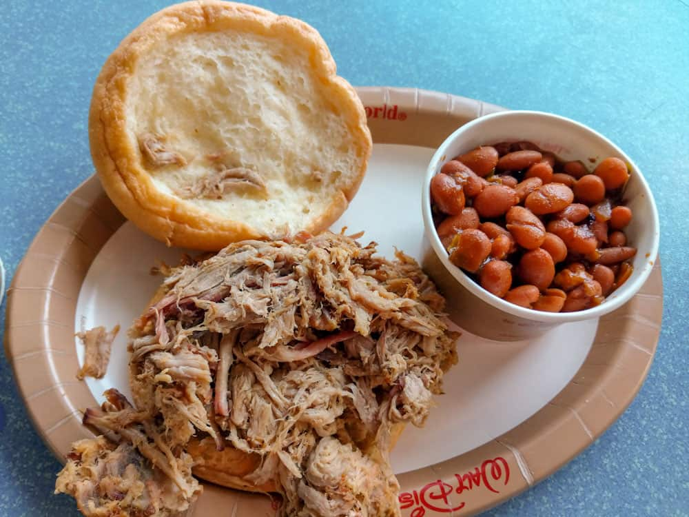 Smoked Pulled Pork Sandwich at Flame Tree Barbecue