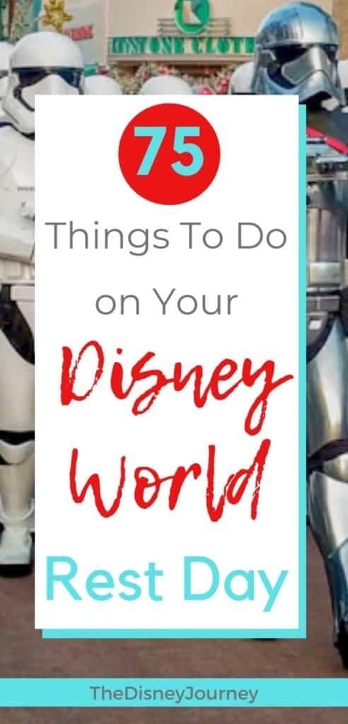 Disney World rest day pin