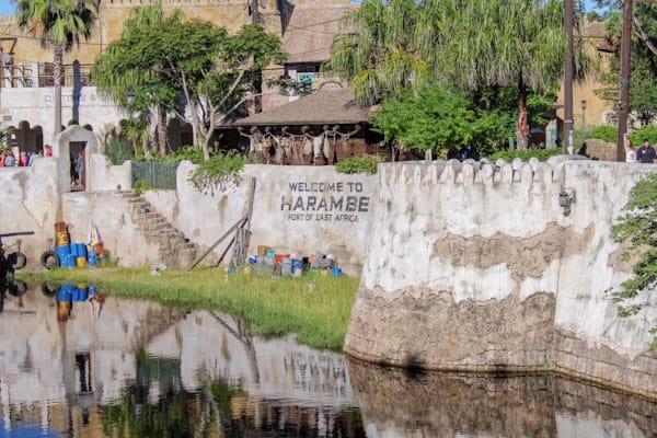 Entrance to Harambe at Animal Kingdom