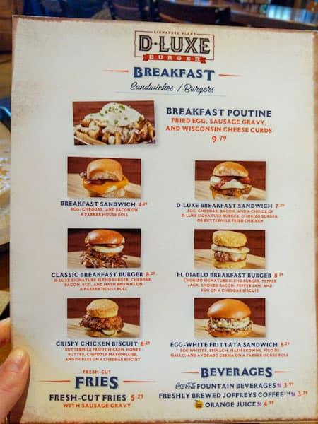 D-Luxe Burger Breakfast menu image