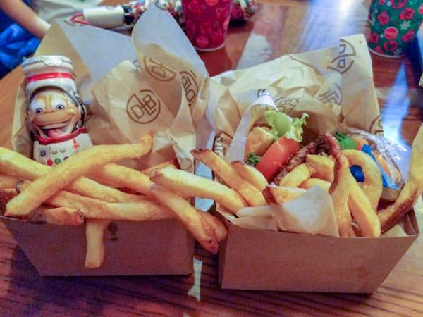 Kids meals at D-Luxe Burger in Disney Springs