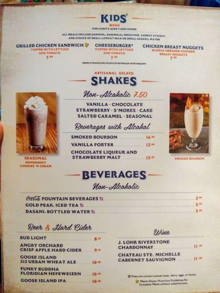 D-Luxe Burger milkshake menu image