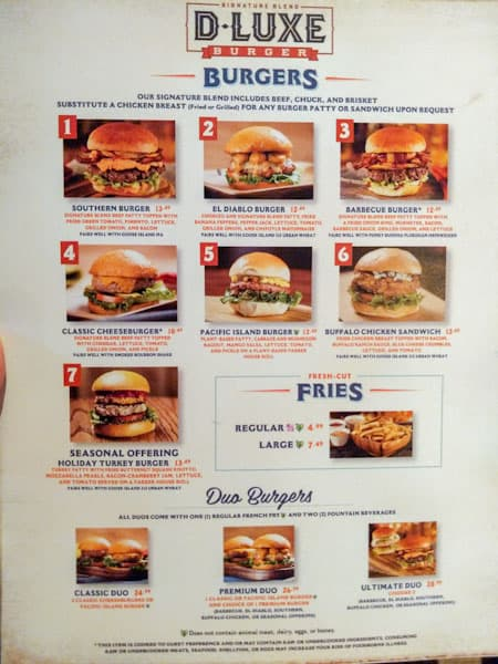 D-Luxe Burger Lunch and Dinner menu image