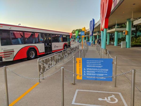 Bus at Pop Century resort