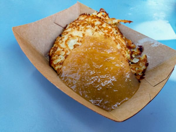Potato Pancake with Applesauce at Flower and Garden Festival