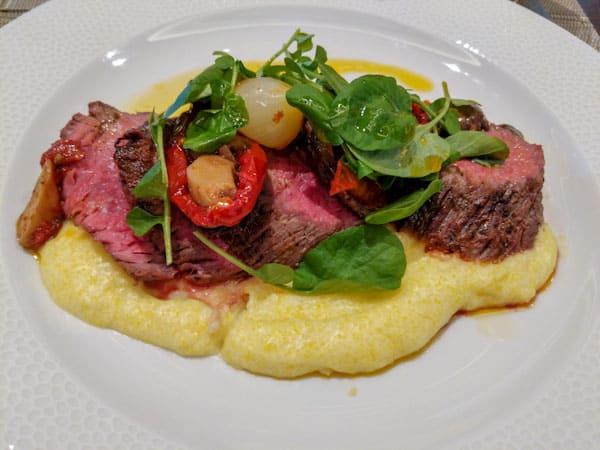 Wood Fired Butchers Steak at Topolino's Terrace Breakfast a la art
