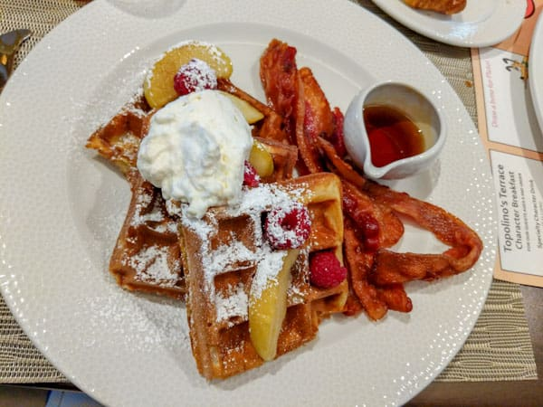 Sour Cream Waffles at Topolino's Terrace