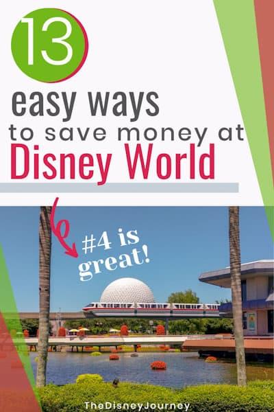 Save money at Disney World pin