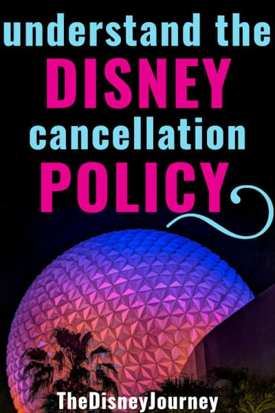 Disney cancellation policy pin image