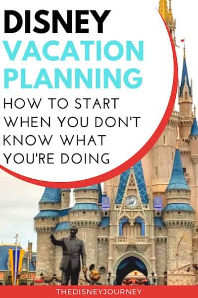 Disney vacation planning guide pin image with Cinderella Castle