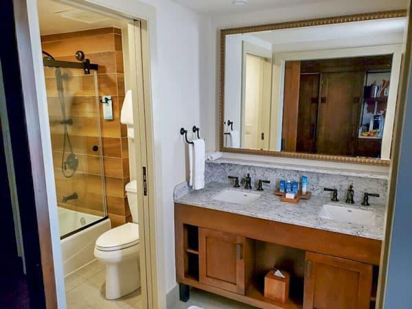Wilderness Lodge renovated bathroom