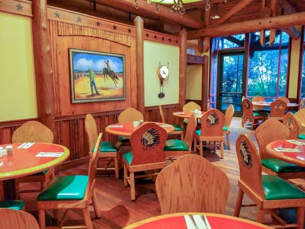 Seating at Whispering Canyon Cafe