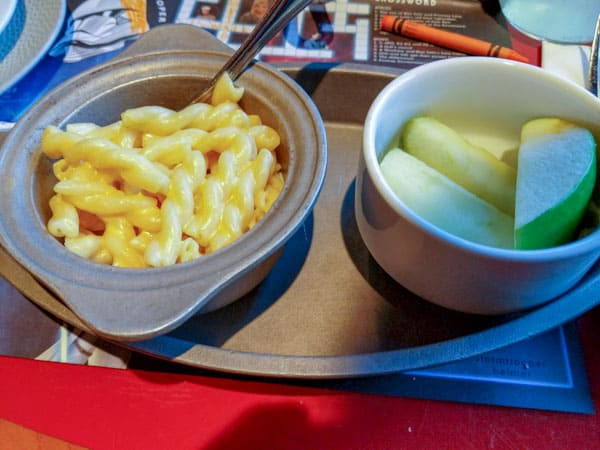 Kids Macaroni and Cheese at Disney's Whispering Canyon Cafe