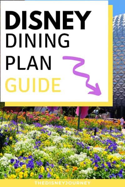 Disney dining plan pin image