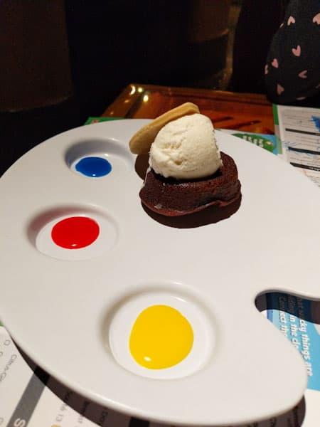 African Shield Dessert at Disney Sanaa