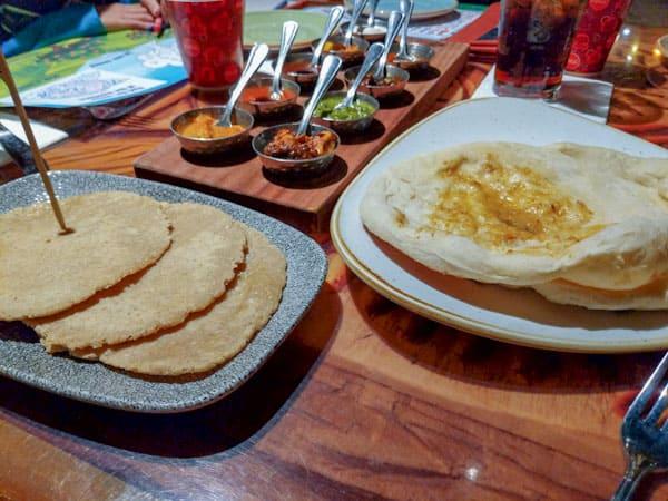 Disney Sanaa Bread service with regular Naan and allergy friendly naan