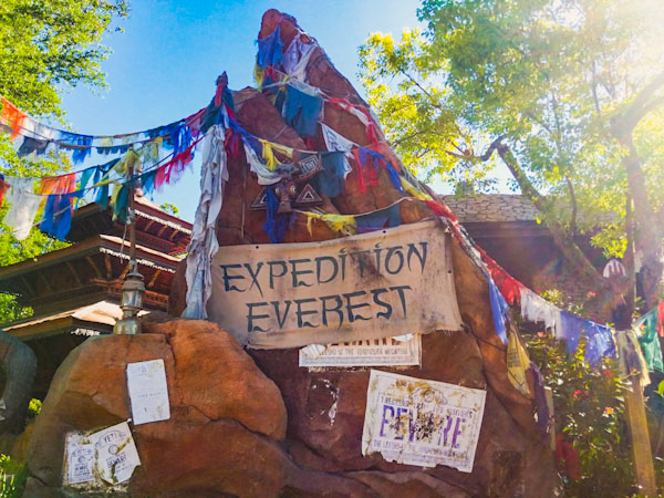 Expedition Everest sign at Animal Kingdom
