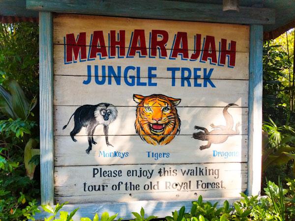 Maharajah Jungle Trek sign