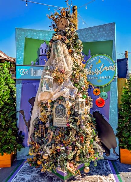 Christmas Tree Trail at Disney Springs, Haunted Mansion Tree