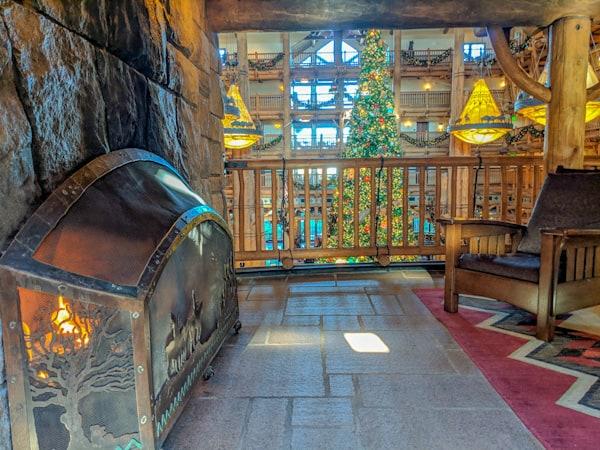 Wilderness Lodge Resort at Christmas