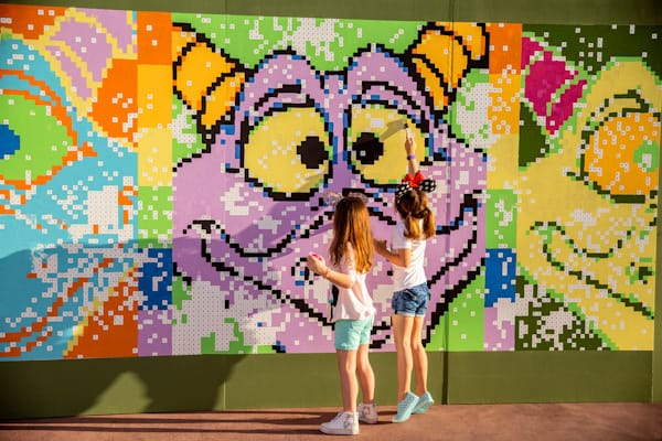 Paint by number mural image at Epcot Festival of the arts