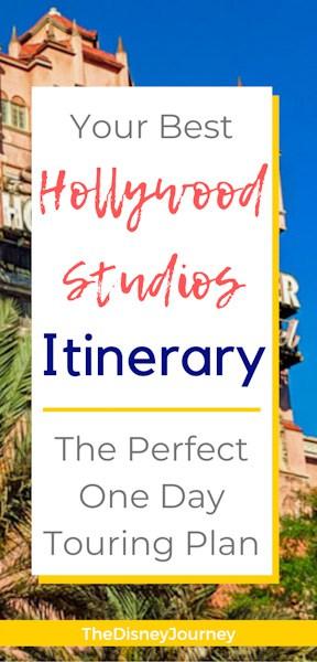 Hollywood Studios touring plan pin
