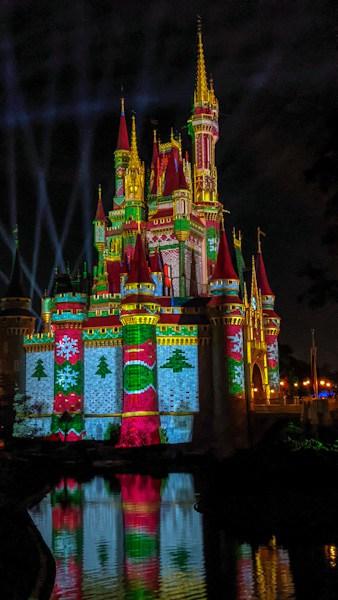 Cinderella Castle holiday projections