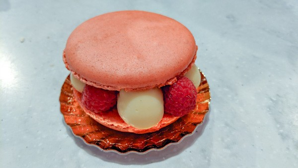 Macaron with Raspberry and Lime Cream at Epcot