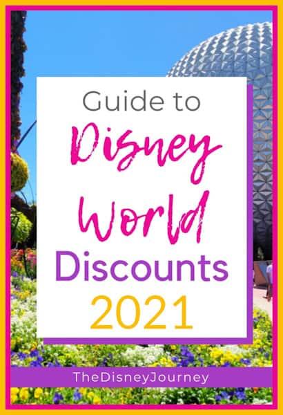 Disney World discounts pin image