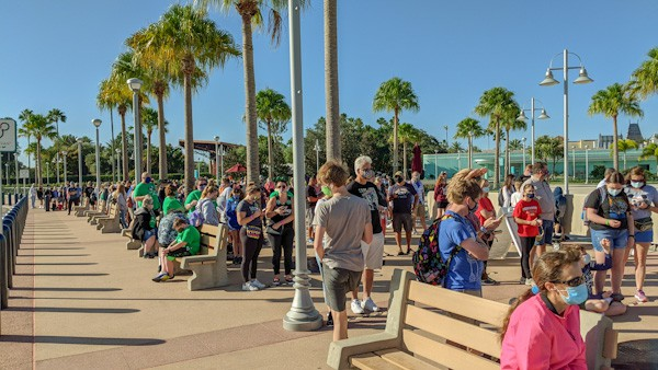 Hollywood Studios rope drop while visiting Disney during COVID