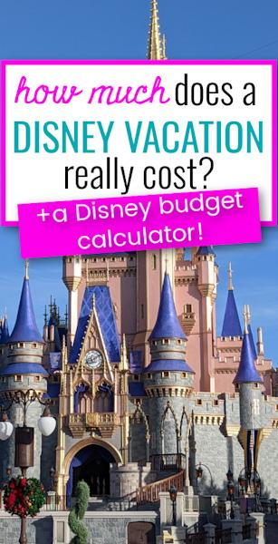 Disney World cost calculator pin image