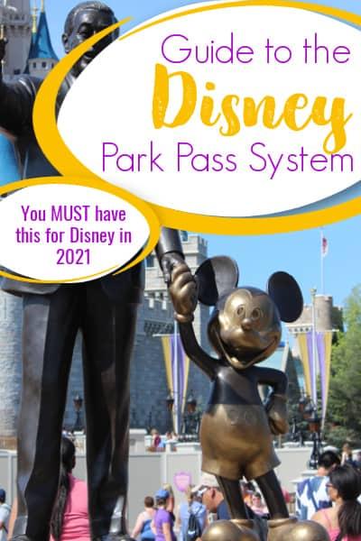 Disney park pass system pin image