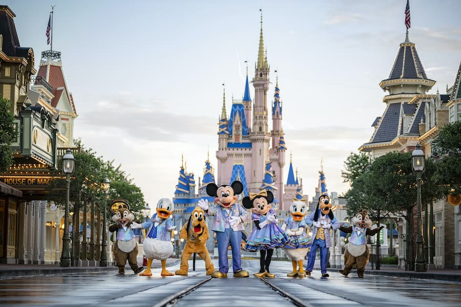 Mickey and friends at the World's Most Magical Celebration