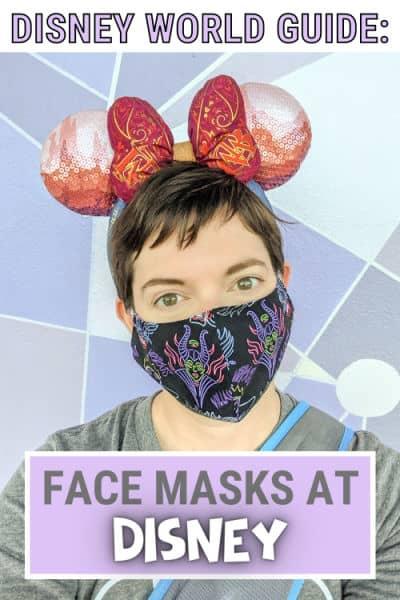 Disney face mask rules pin image