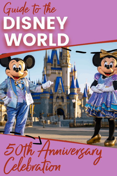 Disney World 50th anniversary pin image
