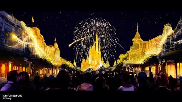Disney Enchantment artist rendering of new Magic Kingdom nighttime spectacular